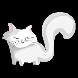 Ilustración de gato de cola larga
