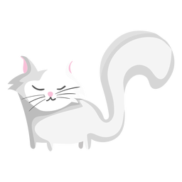 Long tail cat illustration