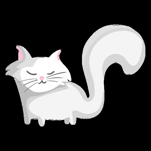 Ilustración de gato de cola larga Transparent PNG