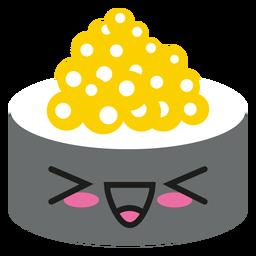 Loudly laughing kawaii emoticon sushi