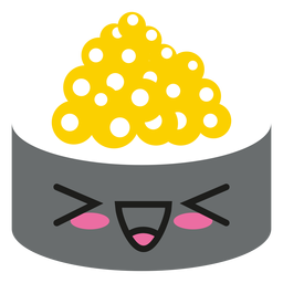 Rindo alto emoticon kawaii sushi