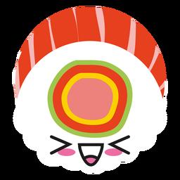 Kawaii Gesichtssushi laut lachend