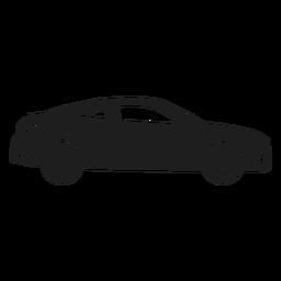 Silhueta de vista lateral de carro de luxo