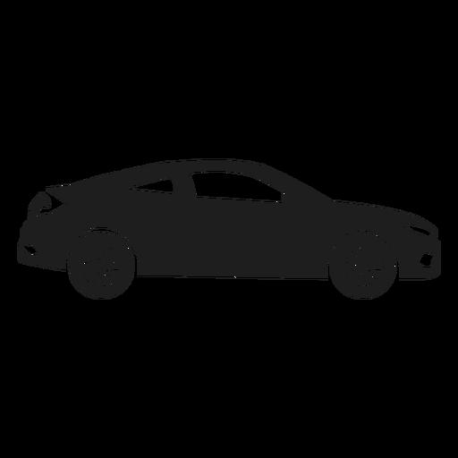 Coche de lujo vista lateral silueta Transparent PNG