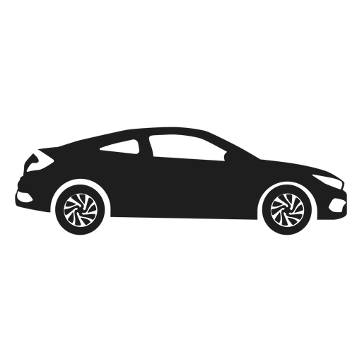Luxury car side view silhouette Transparent PNG