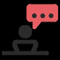 Ícone de contato de conversa de reunião