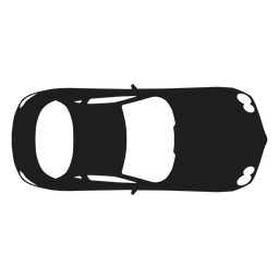 Mercedes coche vista superior silueta