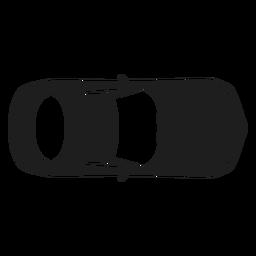 Silhueta de vista superior do carro Mercedes