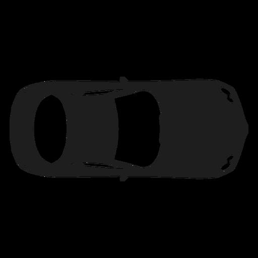 Mercedes car top view silhouette Transparent PNG