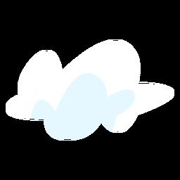 Elemento de diseño en la nube de meteorología.