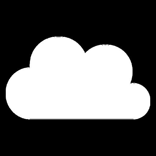 Icono plano de nube de meteorología