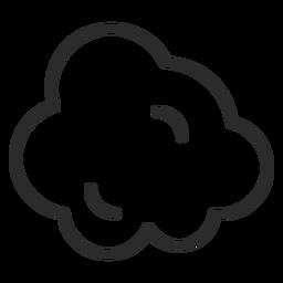 Icono de trazo en la nube de meteorología