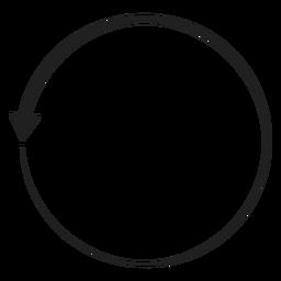 Un circulo de flecha