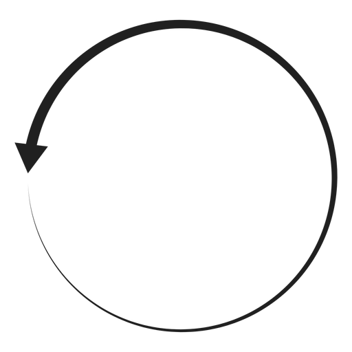 One arrow circle Transparent PNG