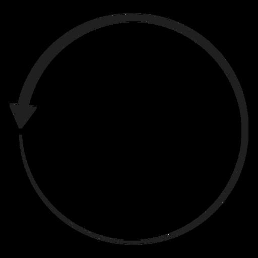 Un circulo de flecha Transparent PNG