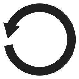 Um círculo de flecha grosso