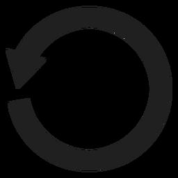 Un círculo de flecha gruesa