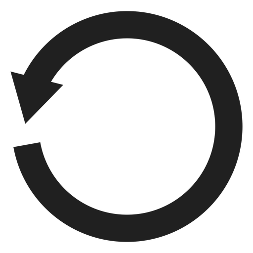 Un círculo de flecha grueso Transparent PNG