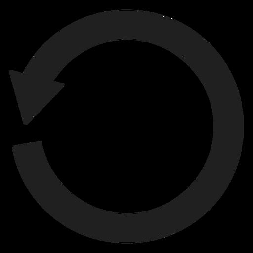 Un círculo de flecha grueso