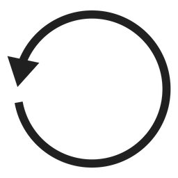One thin arrow circle