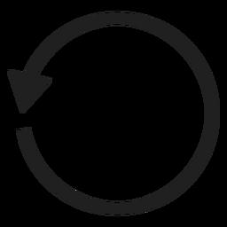 Un círculo de flecha delgada