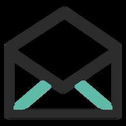 Ícone de contato de email aberto