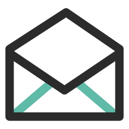 Open mail contact icon