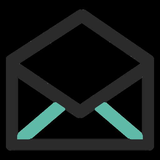 Ícone de contato de email aberto Transparent PNG