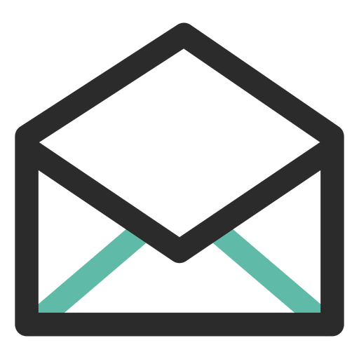 Open mail contact icon Transparent PNG
