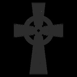 Icono de cruz cristiana adornado