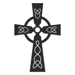 Ornamented christian cross icon