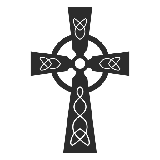 Ornamented christian cross icon Transparent PNG