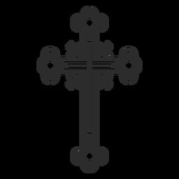 Ícone Cruz Ornamentado