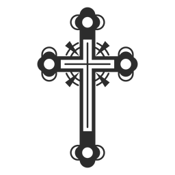Icono de cruz adornado