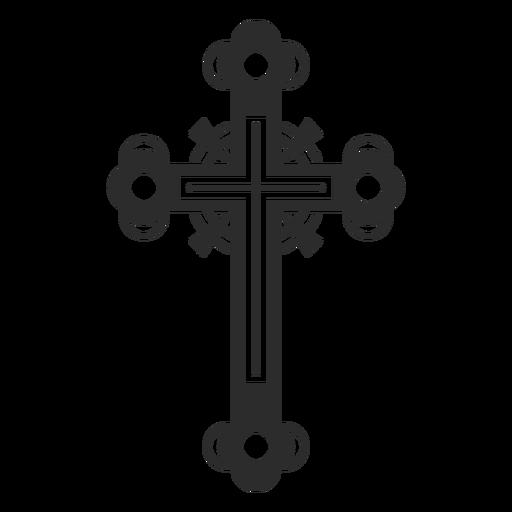Icono de cruz adornado Transparent PNG