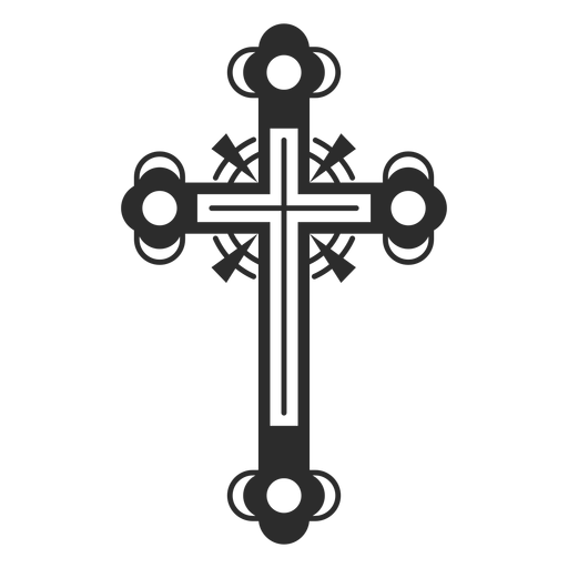 Ornamented cross icon Transparent PNG