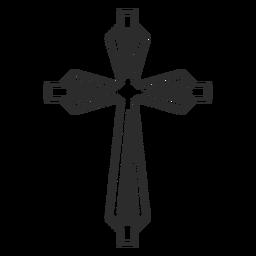 Ícone de religião Cruz ornamentada