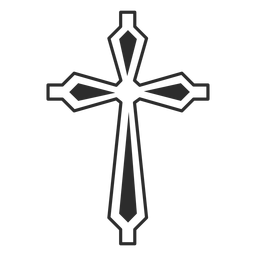 Ornamented cross religion icon