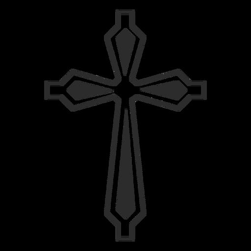 Icono de religión cruz ornamentada