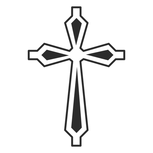 Ornamented cross religion icon Transparent PNG