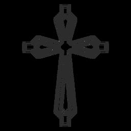 Ícone de traço cruzado ornamentado