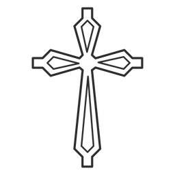 Ornamented cross stroke icon
