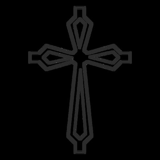 Ícone de traço cruzado ornamentado Transparent PNG