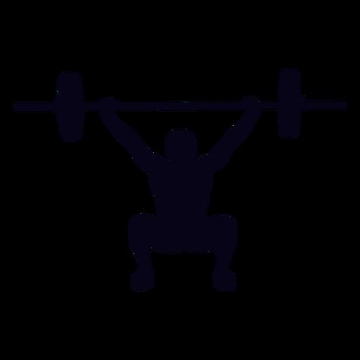 Overhead squat crossfit silhouette Transparent PNG