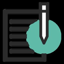 Icono de contacto de papel y lápiz