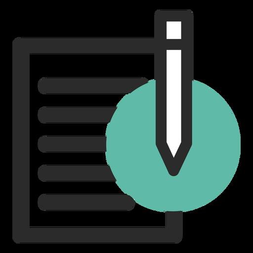 Ícone de contato de papel e lápis Transparent PNG