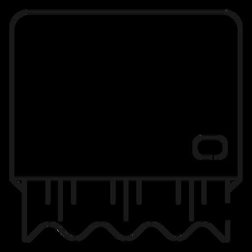 Ícone de traço de dispensador de toalha de papel Transparent PNG