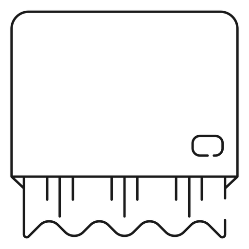 Paper towel dispenser stroke icon Transparent PNG
