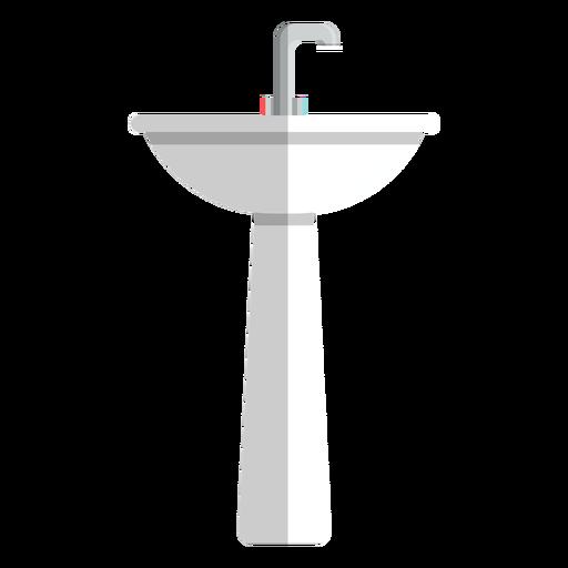 Icono de lavamanos de pedestal Transparent PNG