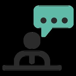 Persönliches Gesprächskontakt-Symbol